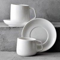 카페 화이트 커피잔 세트 200/280ml