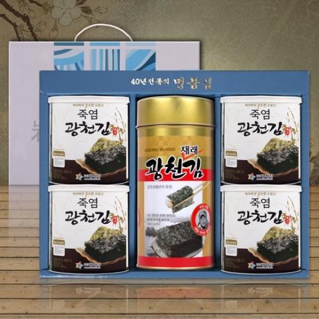 원조 <b>죽염 광천캔김 1대4소</..