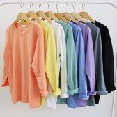 예쁜컬러 데일리 기본 라운드 봄 티셔츠