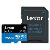 렉사 High-Performance microSDXC Class10 UHS-I U3 V30 A1 633x 256GB