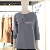 나이스크랍 7부 영문 레터링 면 티셔츠 A192BWT202