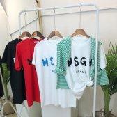 MSGM 밀라노 반팔 티셔츠