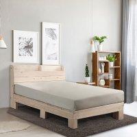 동서가구 편백나무 통원목 평상형프레임 모던 침대 SS Q (슈퍼싱글, 퀸)