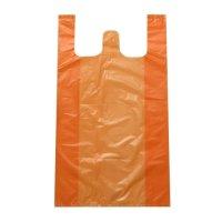 마트 시장 비닐봉투 재활용 분리수거 쓰레기 비닐봉지 / 오렌지(100장)