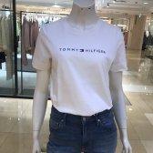 시그니처 타미힐피거여성 코튼 로고 반소매 티셔츠 TFMT1KOE72A0