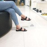 슈콤마보니 Leather two strap sandal DG2AM18083BLK