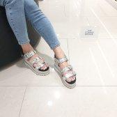 슈콤마보니 Tiara platform sandal DG2AM18019SVX