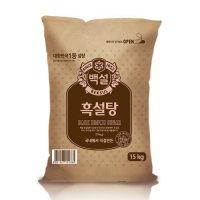 [백설]CJ백설 흑설탕 15kg