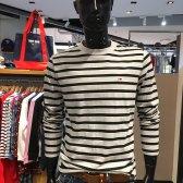 타미힐피거 남여공용 스트라이프 긴소매 티셔츠 T31J6TTO023MT6N99