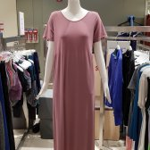 세컨스킨 모달 루즈핏하프 슬리브 롱 드레스 NNWOD4002