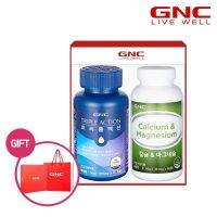 GNC 트리플액션(멀티비타민+오메가+루테인)+칼슘앤마그네슘 세트