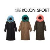 코오롱스포츠 여성 야상 롱다운자켓 하이라인 JKJDW18556