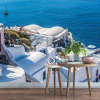 pix238 (산토리니 그리스 유럽 이탈리아 바다 그림 풍경 포인트 뮤럴벽지)