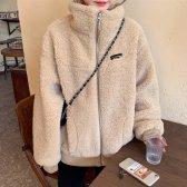 귀욤테디 양털 점퍼 가을 겨울 후리스 뽀글이 루즈핏 오버핏 노카라 에코퍼 인조털