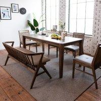 젠티스 고무나무 원목 식탁, 셀라스 , 4인 6인, 의자 선택