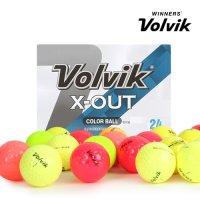 [볼빅][볼빅 정품] X-OUT 컬러 혼합 3,4피스 혼합 컬러 골프공_24 알세트