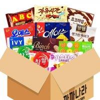 까까나라 랜덤 럭키박스 사무실용 12p 대용량 과자선물세트 회사간식 탕비실 단체 생일선물