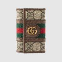 [구찌 오피디아] GG 키 케이스 지갑