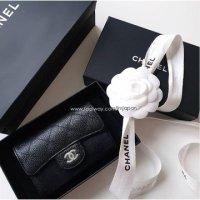[아임재팬] 샤넬 클래식 카드지갑 램스킨 캐비어 금장 은장 AP0214