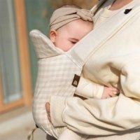 디망디 일리 아기띠 - 체크베이지 (신생아~15kg까지/슬링/어부바 되는 편안한 아기띠)
