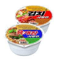 [농심 ] 육개장 사발면 24개입/김치사발면
