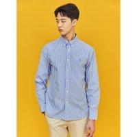 [빈폴멘] [SLIM] Unisex 스카이 블루 1도 스트라이프 셔츠 하늘색 BC1164A18Q