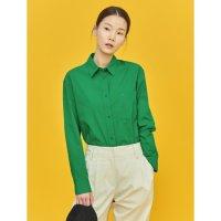 [빈폴 레이디스] 그린 워시드 세미 오버핏 셔츠 녹색 BF1264U05M