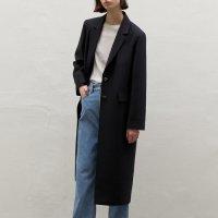 [쎄르토] Wool Silk Single Coat [Navy]