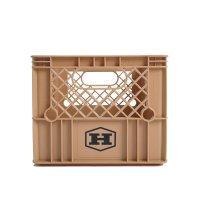 HIBROW  하이브로우 하이브로우 캠핑 테이블 수납박스 밀크박스 라떼 브라운