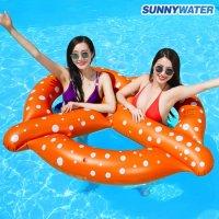 써니워터 특대형 프레즐 튜브 물놀이용품 보트 수영용품 라이더