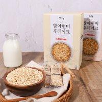 자연공유 100% 유기농 국산 발아현미 후레이크 455g,비건 음식 간단한 아침 저녁 식사 대용 무설탕 시리얼 비상식량