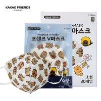 카카오 프렌즈 V마스크 아동용 새부리형 소형 60매