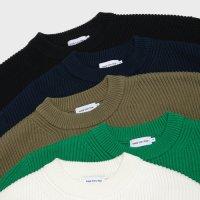 [스테디 에브리웨어] Crew Neck Cotton Rib Knit (5color)