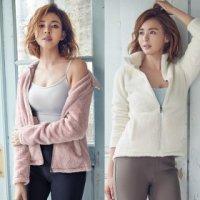 STL 여성용 따뜻한 보아후리스플리스 집업자켓