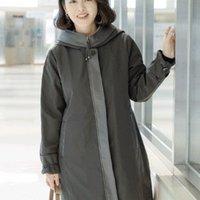 엄마옷 마담옷 중년여성의류 래더배색 누빔 코트