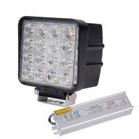 LED 서치라이트 48W DC 12v 24V 4000루멘 작업등 중장비등 전조등 안개등