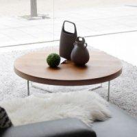 벤스 노드 원형 거실 소파테이블, 원목테이블