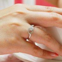 3부 D칼라 다이아몬드 반지 GIA 우신 결혼예물 프로포즈반지 웨이브 쓰부다이아세팅