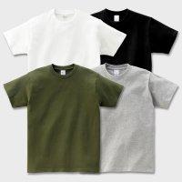17수 헤비 무지 반팔 티셔츠 기본 라운드 면티 (남녀공용, 흰색,회색,카키색,검정색)