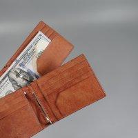 남성 명품 수제 선물용 가죽 머니클립 지갑 2color