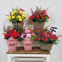 향기로운 비누꽃바구니 카네이션조화꽃 선물 포장 어버이날