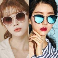 오버사이즈 여자 핑크 틴트 보잉 캣츠형 유니크한 패션 편광 미러선글라스