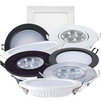 LED 다운라이트 방습 회전 슬림 3인치 4인치 5인치 6인치 7인치 8인치 주광색 전구색 주백색