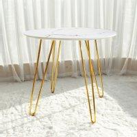 마블테이블 화이트 골드 프레임 테이블 카페 원형 감성 인테리어 디자인 가구