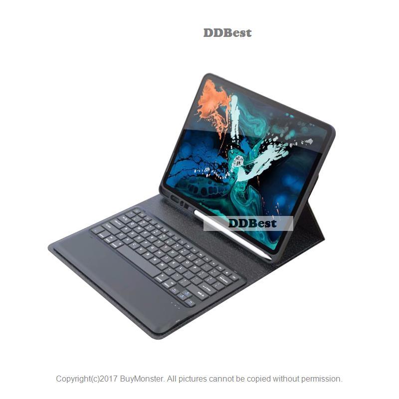 아이패드 / 케이스 대 한 iPad Pro 12.9 새 2018 Detachable ABS 무선 Bluetooth 키보드 PU 자석 서 Case Cover 펀다 W 연필 홀더