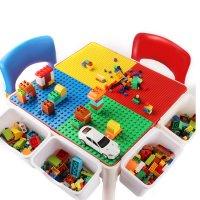 수납형 레고블록 테이블 책상 의자 세트