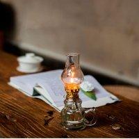 [디자인온유]빈티지풍 유리램프 파라핀 무드등 촛불