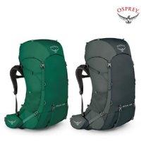 오스프리 등산 트레킹 백패킹 여행 통기성 남성 룩 65리터 배낭 레인커버포함 정품