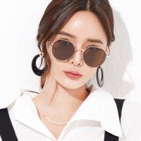 남자 여자 육각형 미러 선글라스 (편광 렌즈)