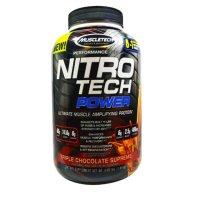 Muscletech Nitro Tech Power 단백질 트리플 초콜릿 수프림 4.00 lbs (1.81 kg)